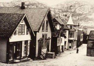 Egersund Bedehus (med pipe midt på taket) hvor ImF Rogaland ble stiftet i 1901