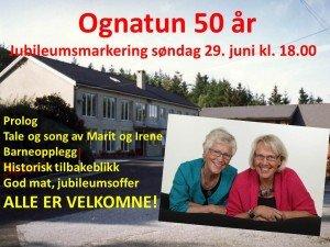 Ognatun 50 år,ANNONSE