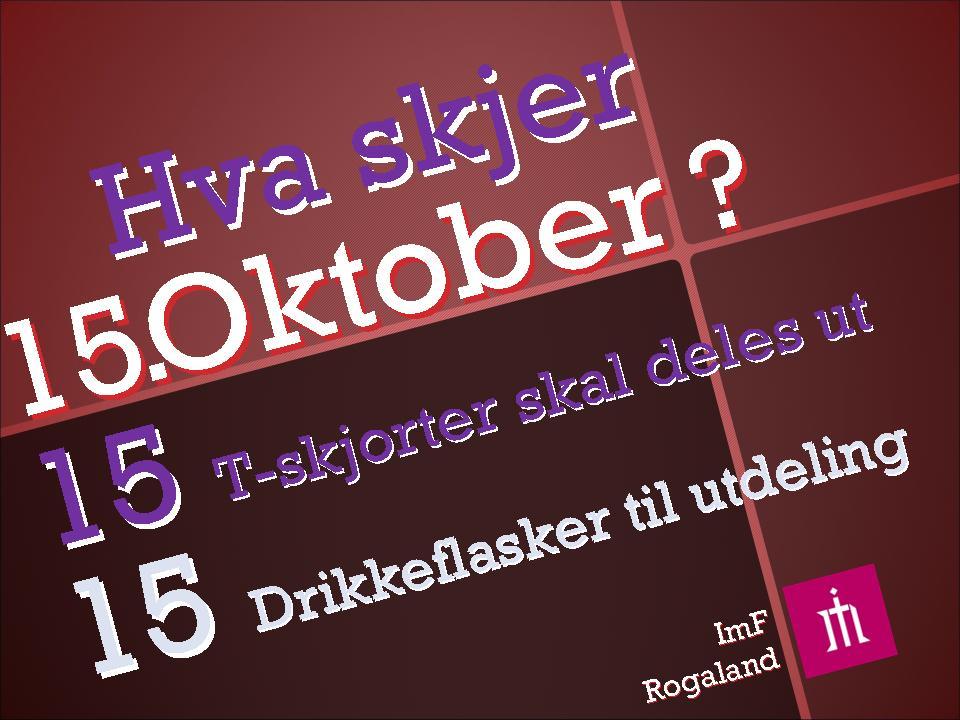 15 Oktober fredag