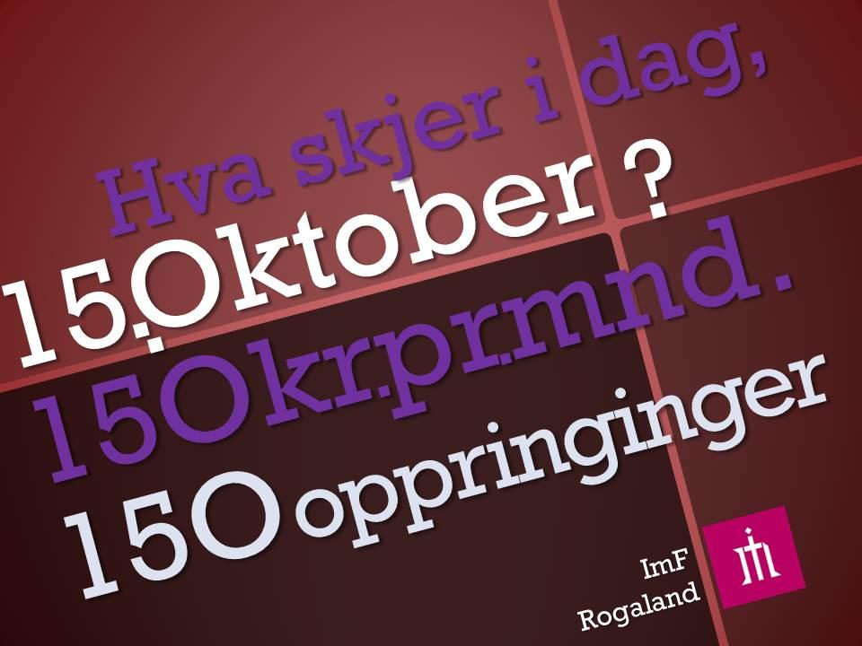 15 Oktober i dag