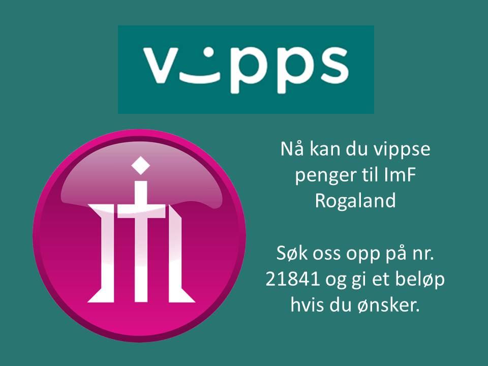 Nå kan du vippse penger til ImF Rogaland