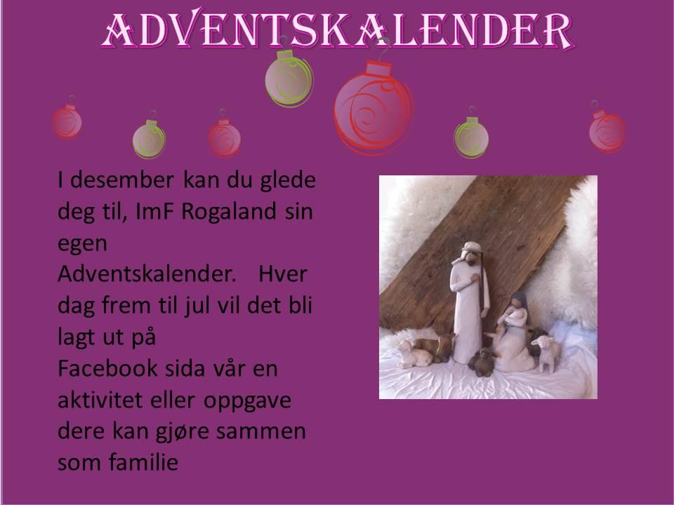 Adventskalender 2014, fokusbilde