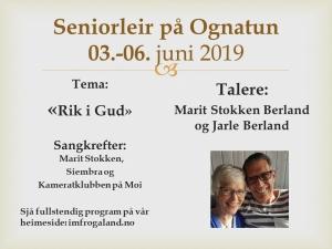 Seniorleir på Ognatun @ Ognatun | Rogaland | Norge